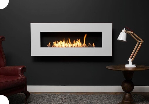 Nero Wall Fireplaces Top Image